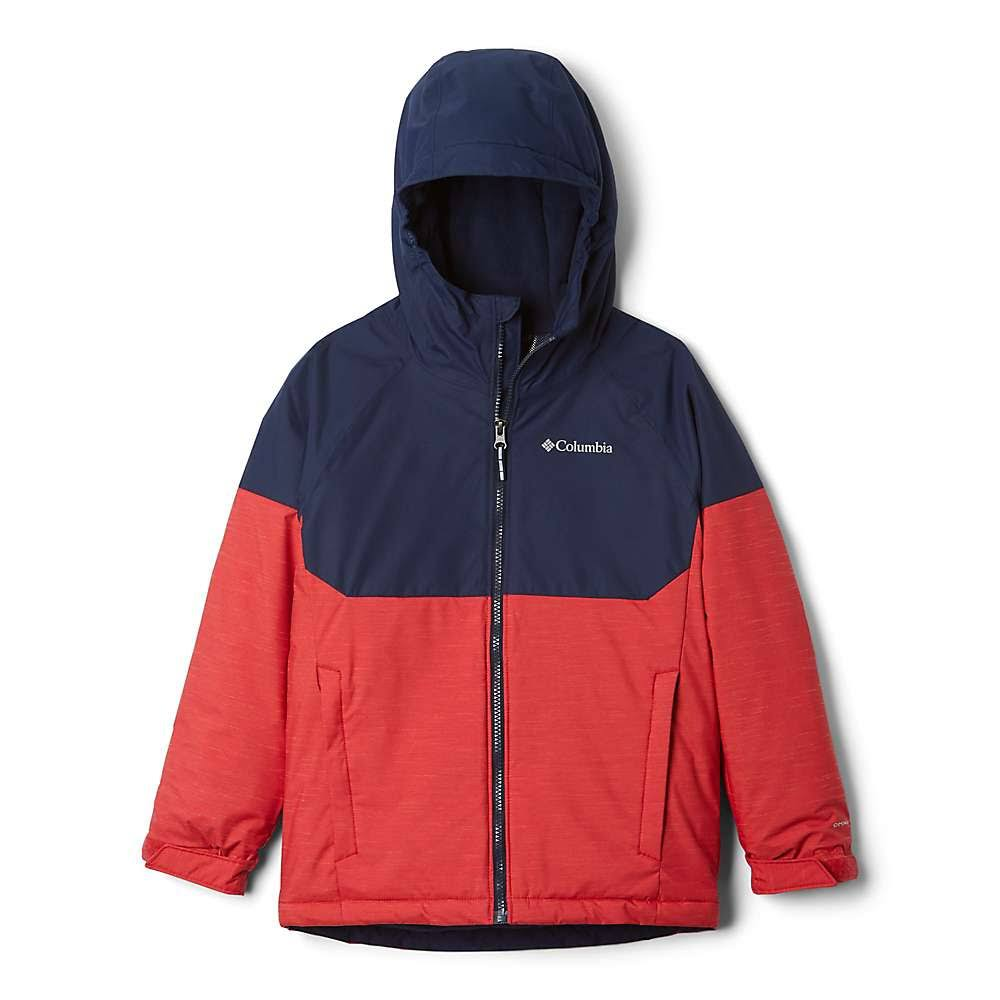 Columbia Alpine Action II Jacket - Boys' Mountain Red Heather/Collegiate Navy, XS