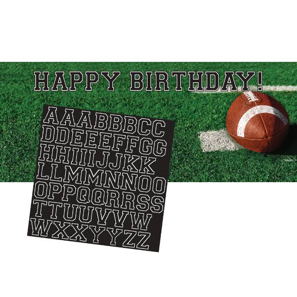 Creative Converting Tailgate Rush Giant Party Banner & Letter Sticker