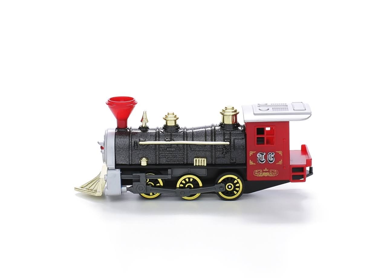 Toysmith Pull Back Plastic and Die-Cast Vintage Train
