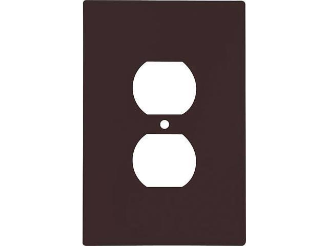 Cooper Wiring Devices Standard Duplex Receptacle Plastic Wall Plate - 1 gang, Brown