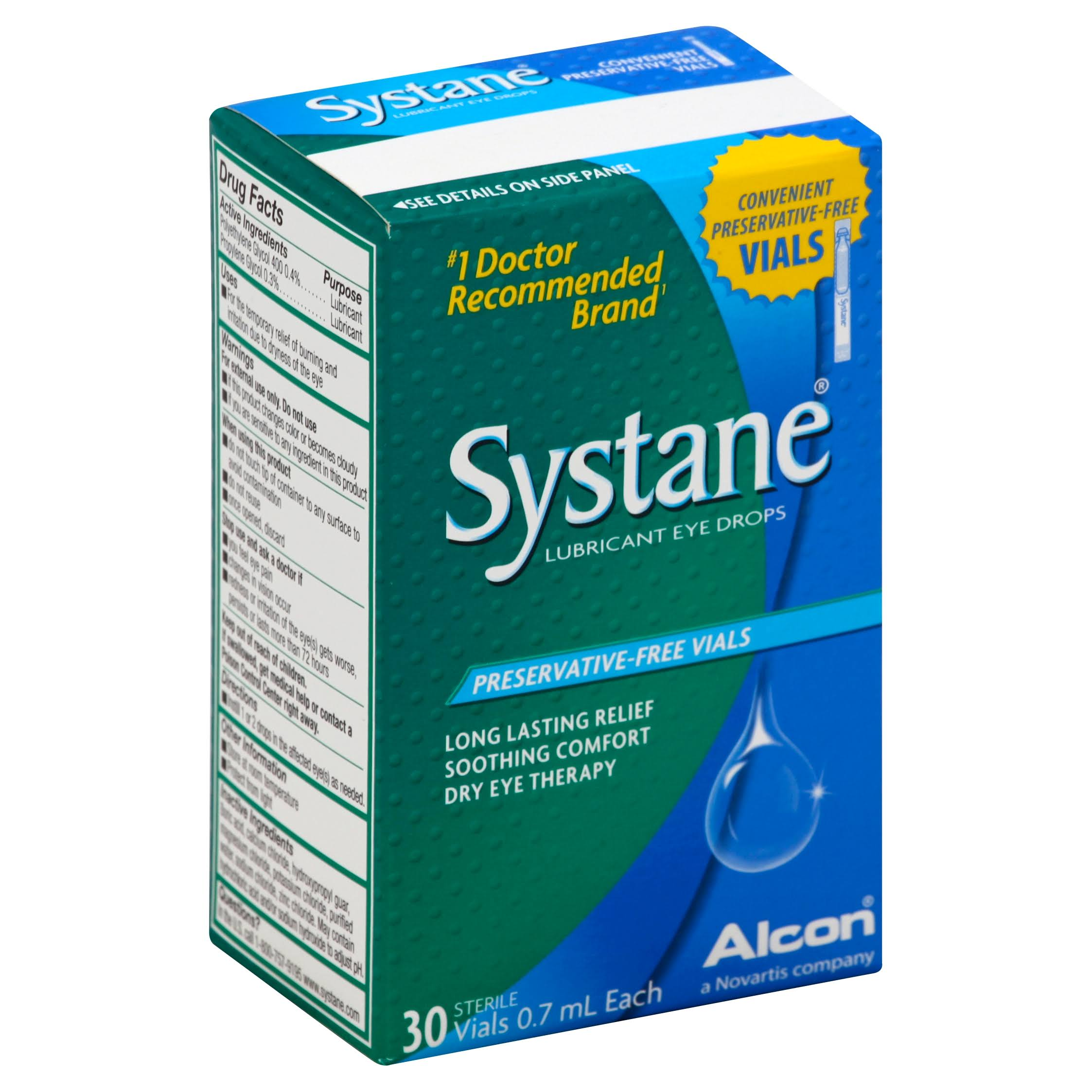 Alcon Systane Lubricant Eye Drops - 30 Vials, 21ml