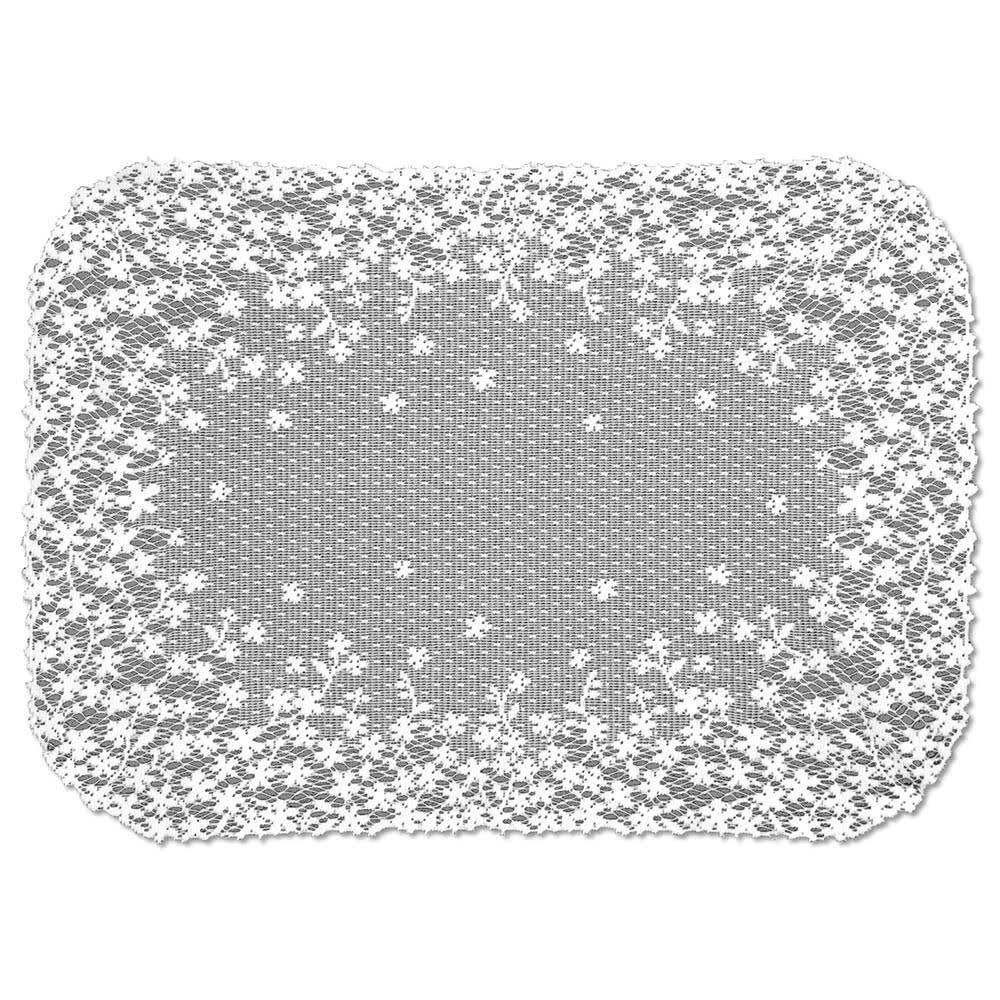 Heritage Lace Blossom Placemat White