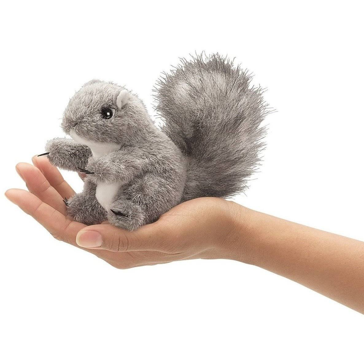 Folkmanis Mini Squirrel Finger Puppet - Gray