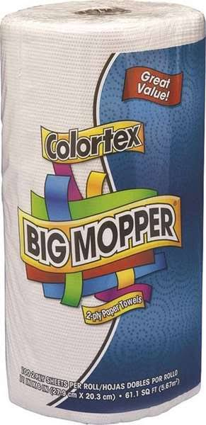 Orchids Paper Products Colortex Big Mopper Towels - 100 Sheets, 2 Ply, White