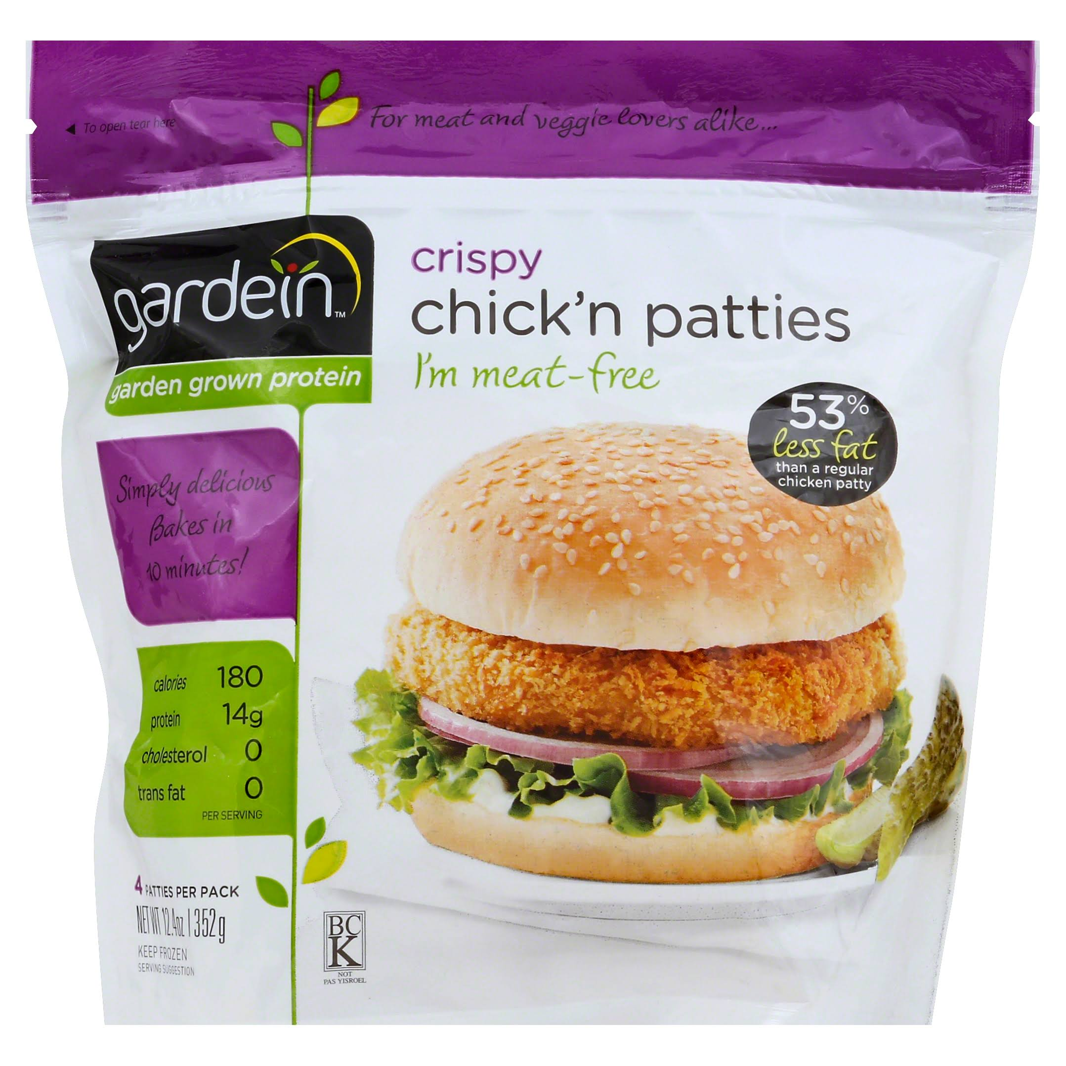Gardein Crispy Veggie Chicken Patties - 12.4oz