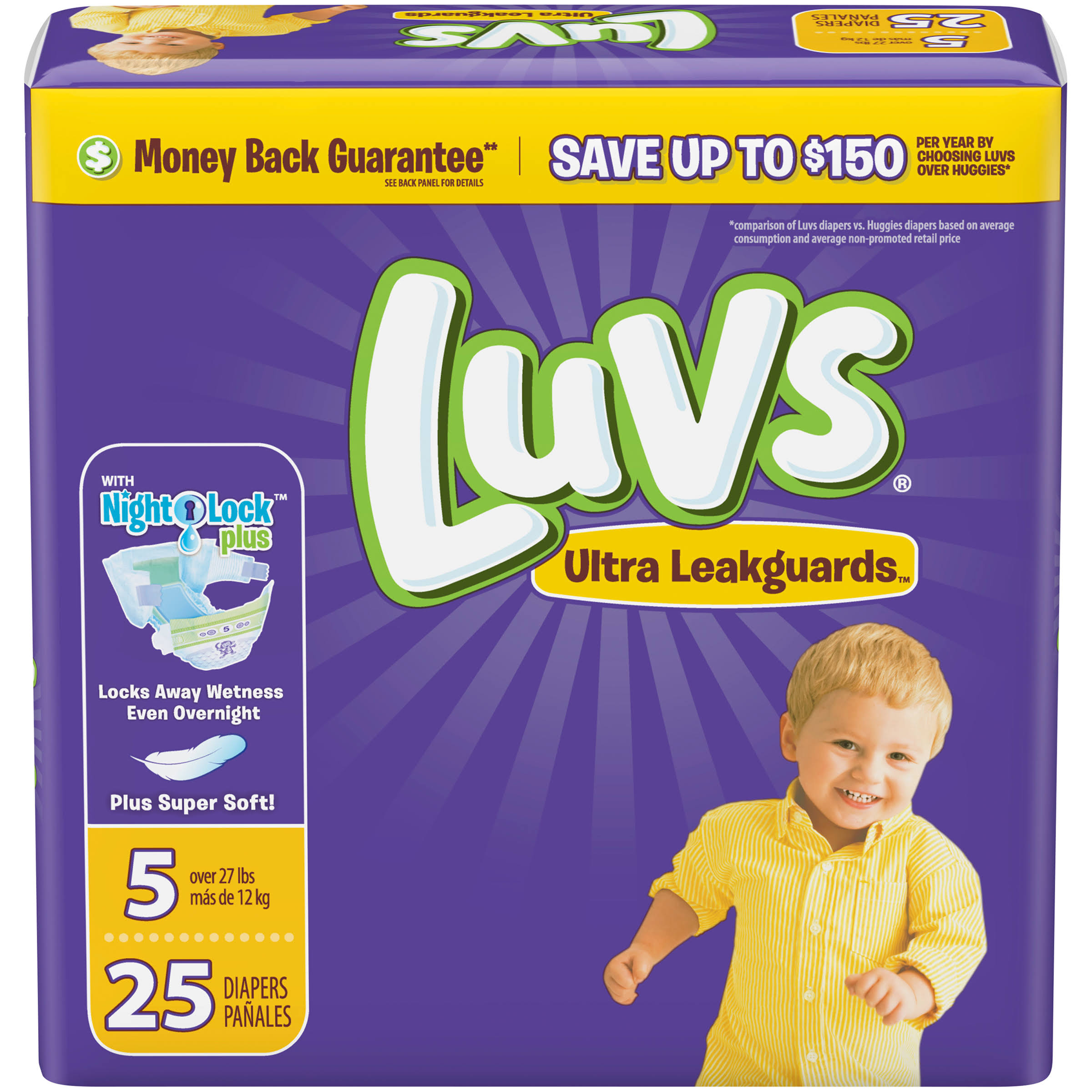 Luvs Ultra Leakguards Diapers - Size 5, 25ct