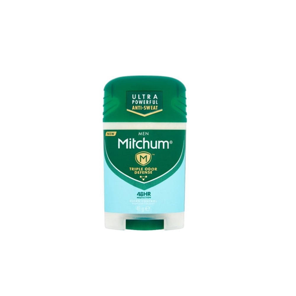 Mitchum Men Triple Odor Defense 48hr Protection Antiperspirant and Deodorant - Clean Control, 41g