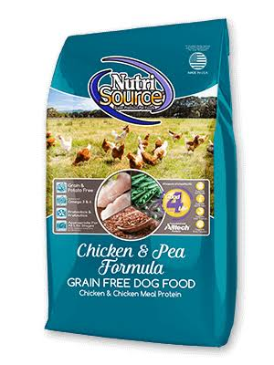 NutriSource Grain Free Dog Food Chicken & Pea 30-lb