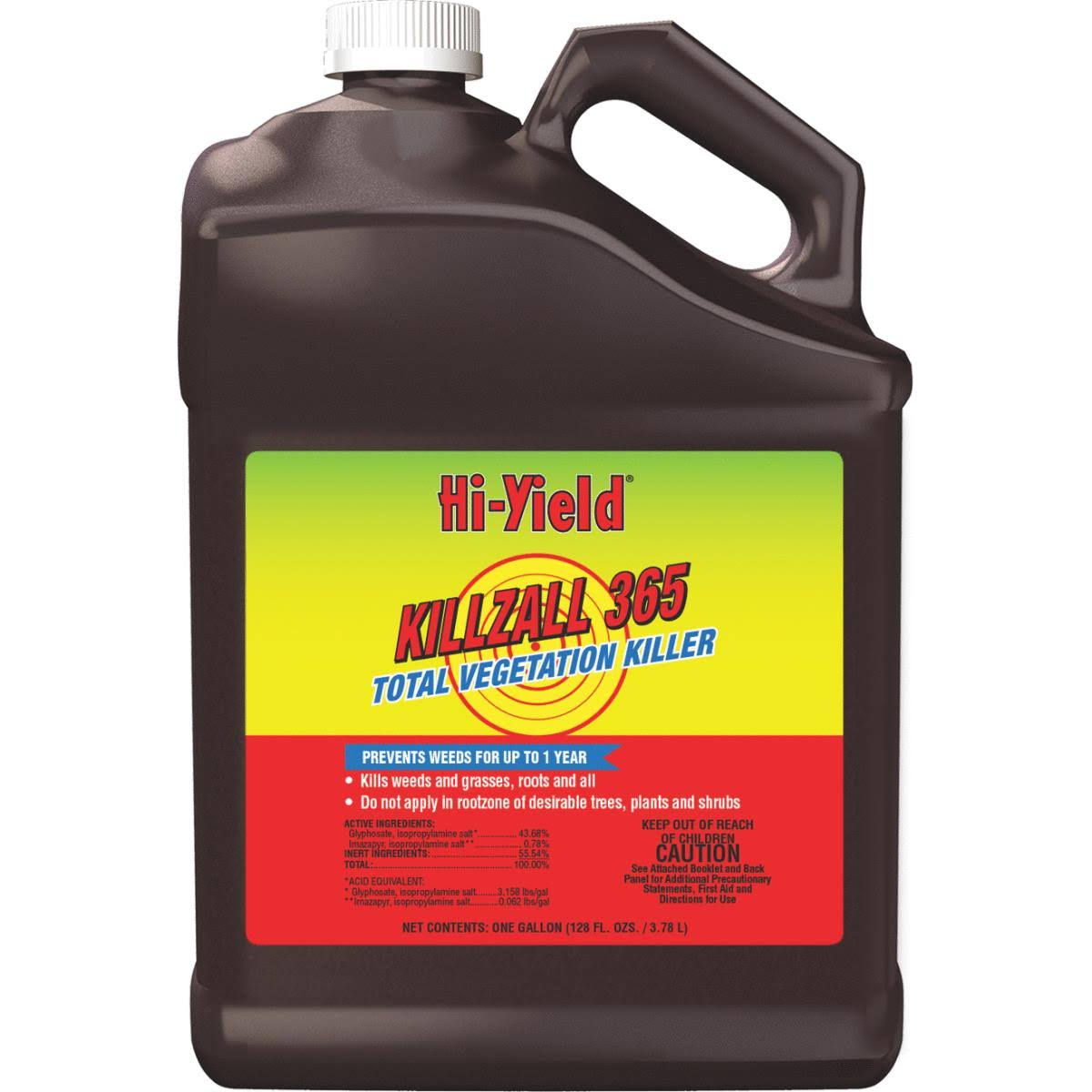 Hi Yield Killzall 365 Concentrate Weed and Grass Killer - 1gal