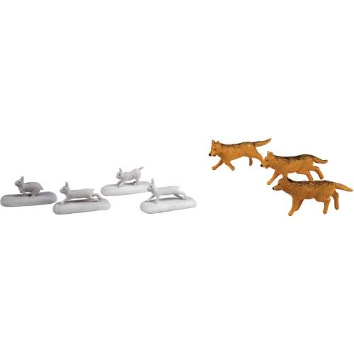 Lionel Polar Express Wolves and Rabbits Animal Pack