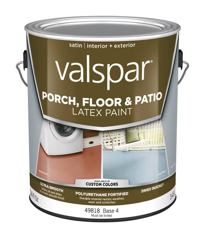Valspar Base 4 Tintable Satin Interior and Exterior Porch and Floor Paint - 1160z