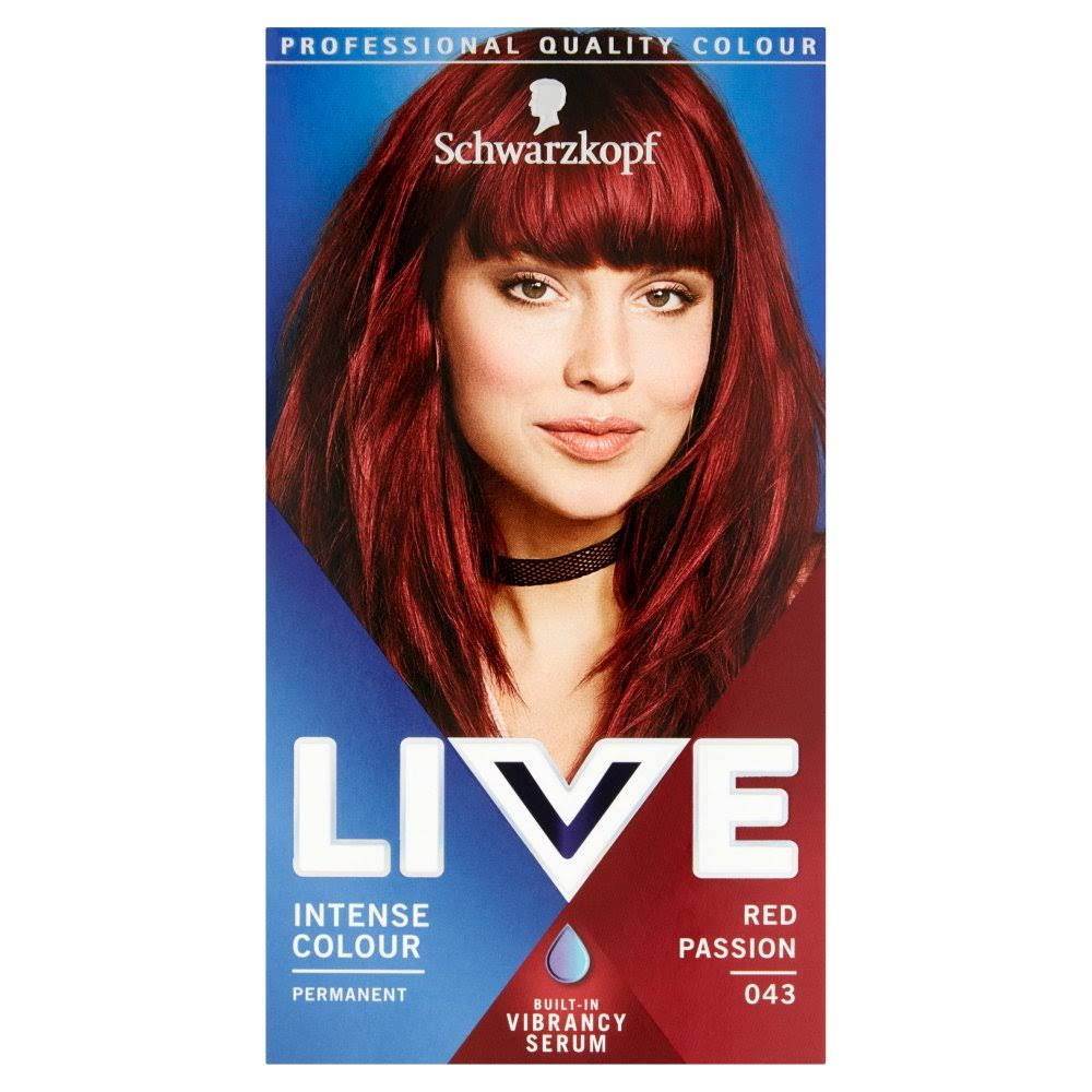 Schwarzkopf Live Intense Colour Permanent Hair Dye - 043 Red Passion