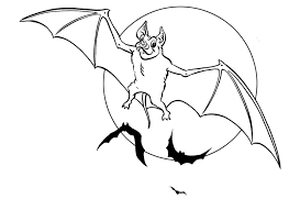 Scary Halloween Coloring Pages Online by Downloads Online Coloring Page Bat Coloring Page 34 For Coloring