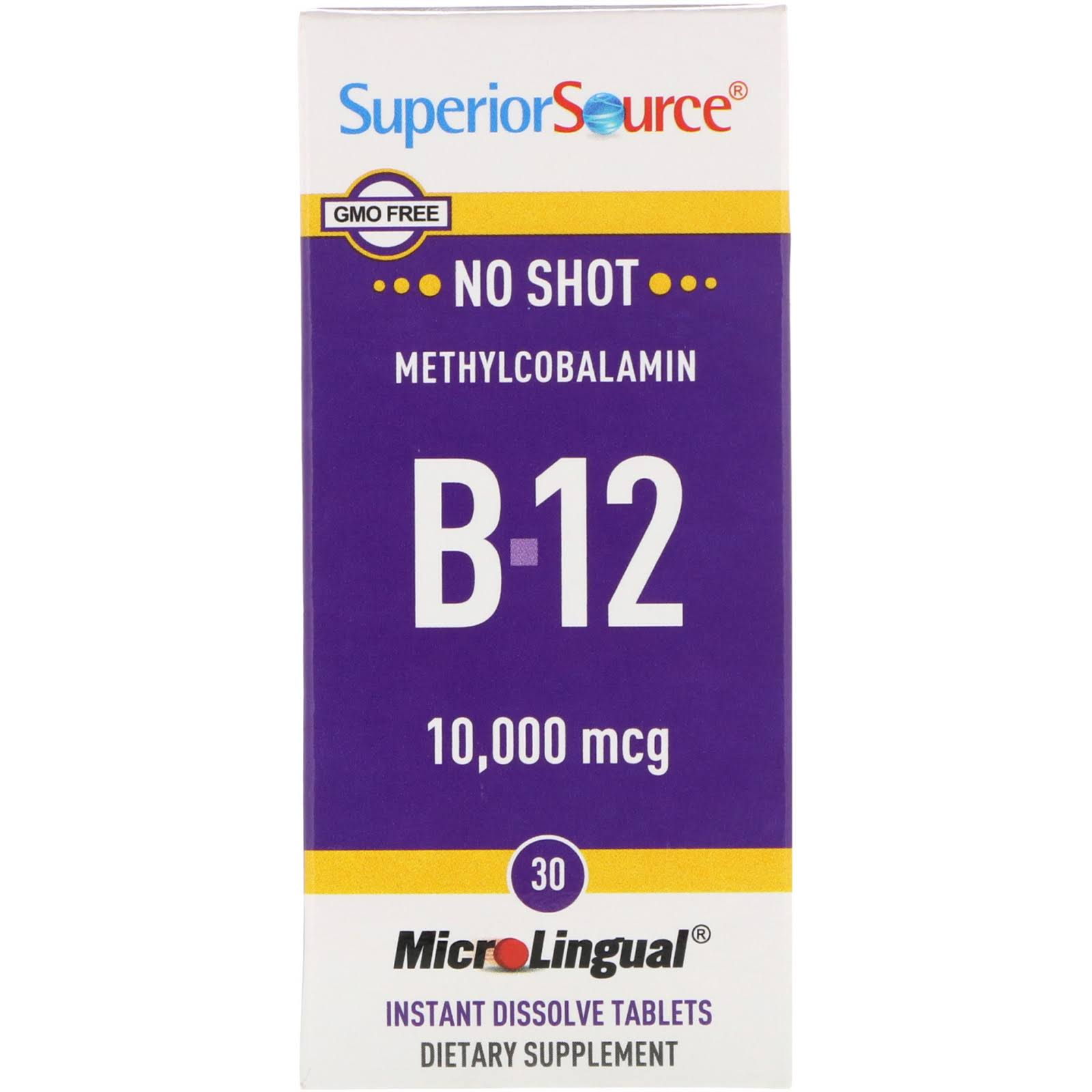 Superior Source No Shot Methylcobalamin B12 - 60 Tablets