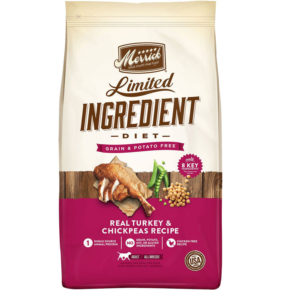 Merrick Limited Ingredient Diet Real Turkey + Sweet Potato Recipe Adult Dry Dog Food - 22 Lb