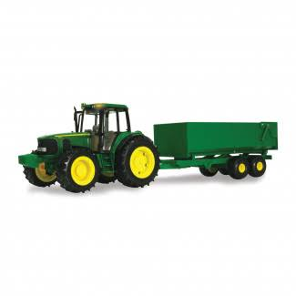John Deere Big Farm Tractor With Wagon Model - 1:16 Scale