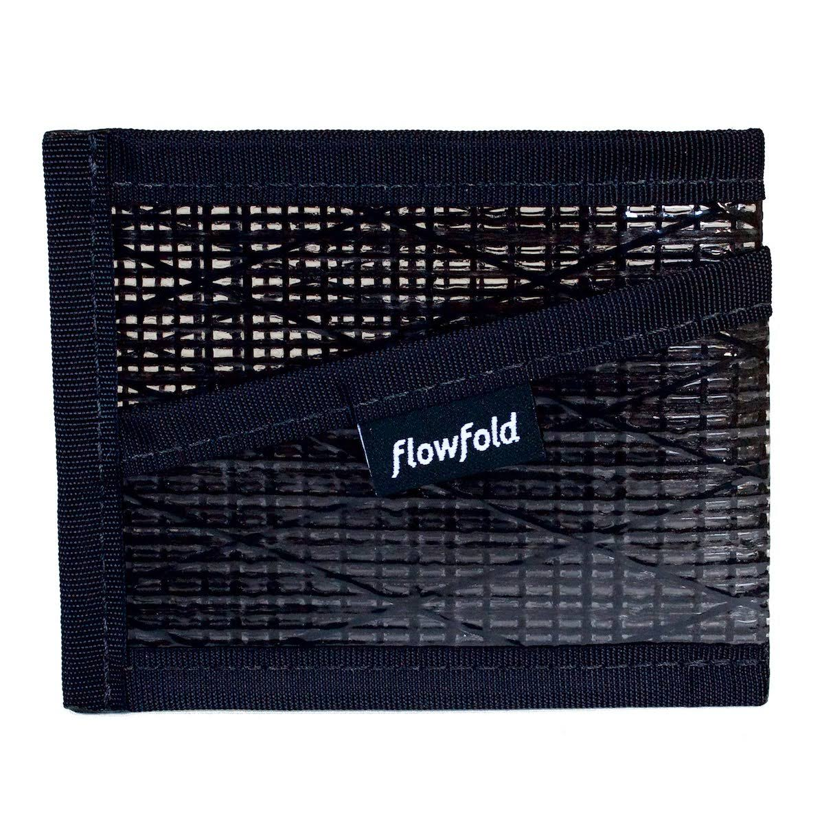 Flowfold - Three Pocket Wallet - Black Pearl