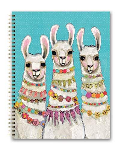 Orange Circle Studio 2020 Extra Large Spiral Planner, Boho Llamas