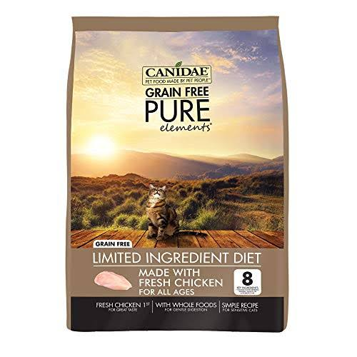 Canidae Grain Free Pure Elements Adult Cat Formula Food - Made with Fresh Chicken, 5lbs