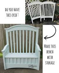 How To Make A Wooden Toy Chest by Repurposed Crib Into Toy Box Bench My Repurposed Life