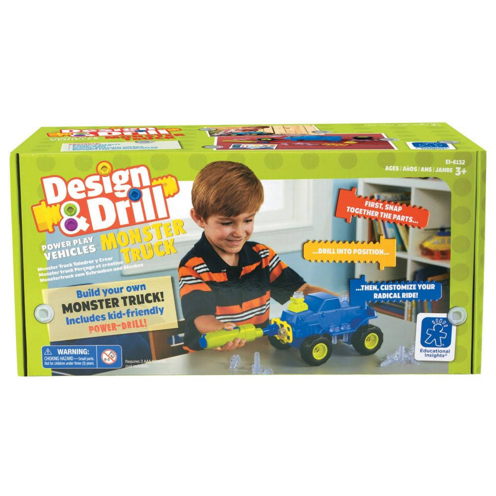 Educational Insights Design & Drill Power Play Vehicles - Monster Truck
