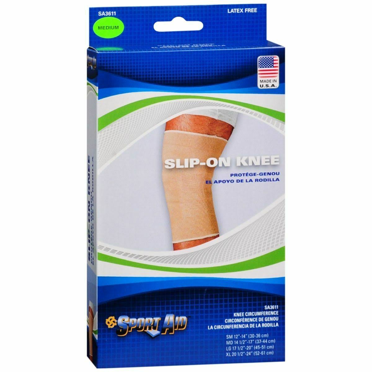 Sport Aid Slip-on Knee Wrap - Medium