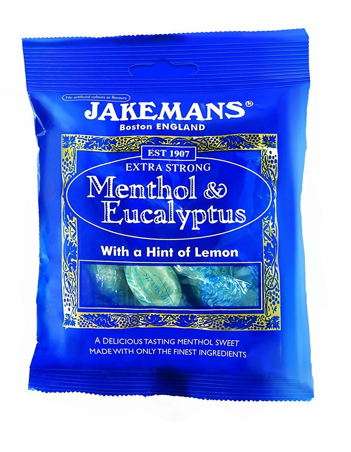 Jakemans Menthol and Eucalyptus Sweets - 100g