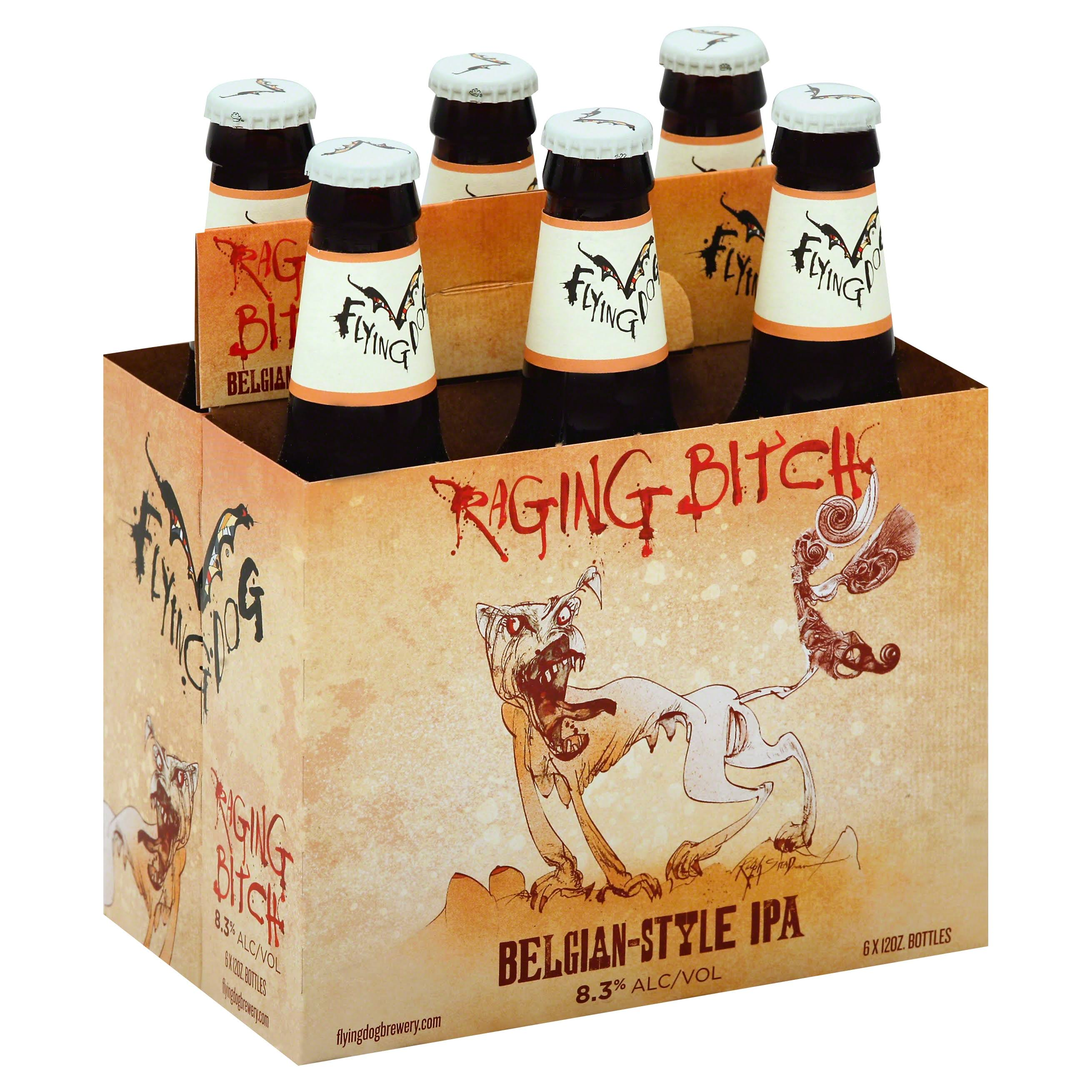 Flying Dog Beer, Raging Bitch Belgian-Style IPA - 6 pack, 12 oz bottles