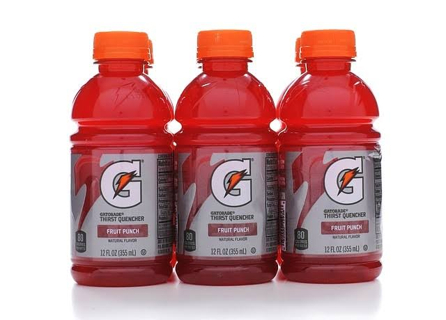 Gatorade Thirst Quencher Frost - Fruit Punch, 12oz, Pack of 6