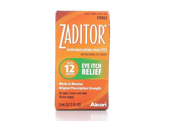 Alcon Zaditor Eye Itch Relief Drops - 5ml