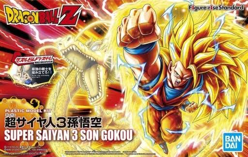 Bandai Dragon Ball Z Super Saiyan 3 Son Goku Plastic Model Kit