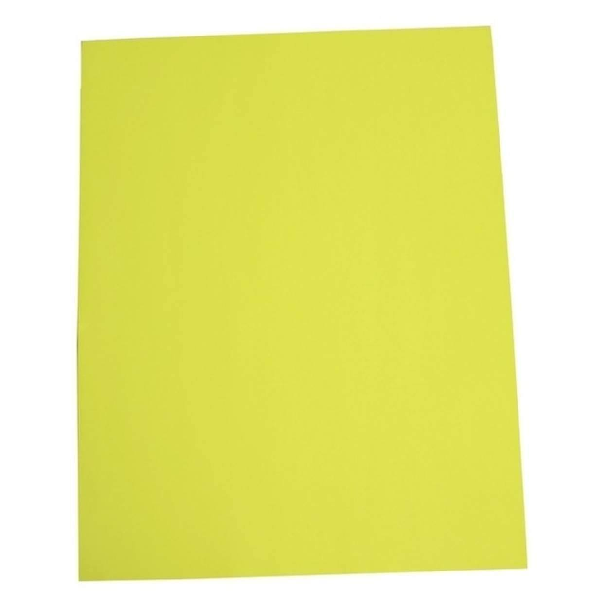 "Norcom 79863-25 22"" x 28"" Fluorescent Yellow Poster Board (Pack of 25)"