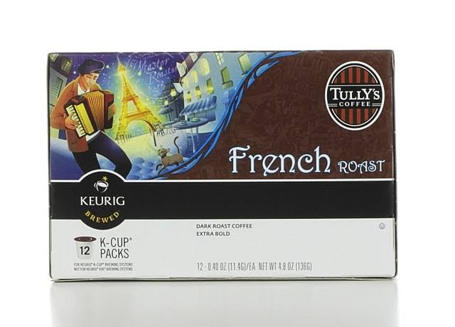 Tullys K-Cup French Roast Coffee K-Cups - 12ct, Dark Roast