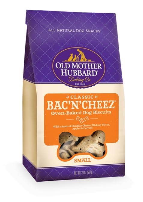 Old Mother Hubbard Classic Oven-Baked Dog Biscuits - Bac & Cheez, Small, 20oz