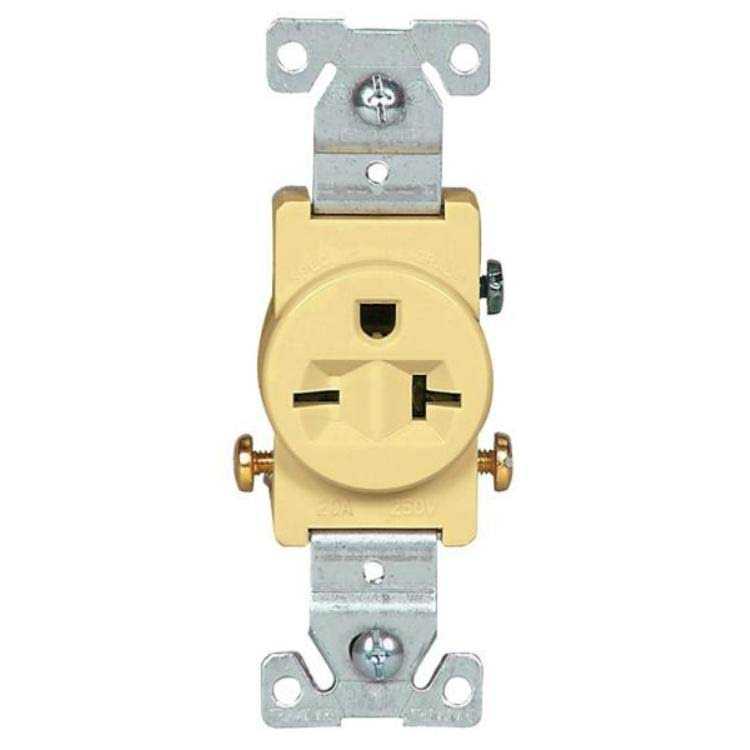 Cooper Wiring 3 Wire Grounded Receptacle - Ivory, 200 Amp