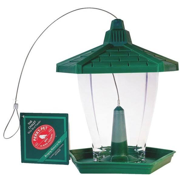 Perky-Pet Plastic Chalet Bird Feeder