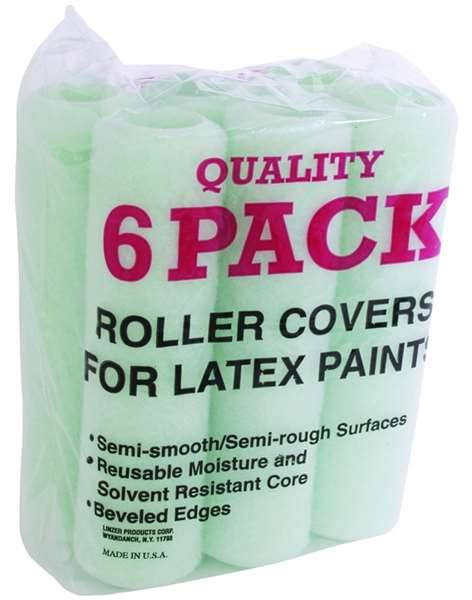 "Linzer Products Paint Roller Cover - 9"", 6 Pack"