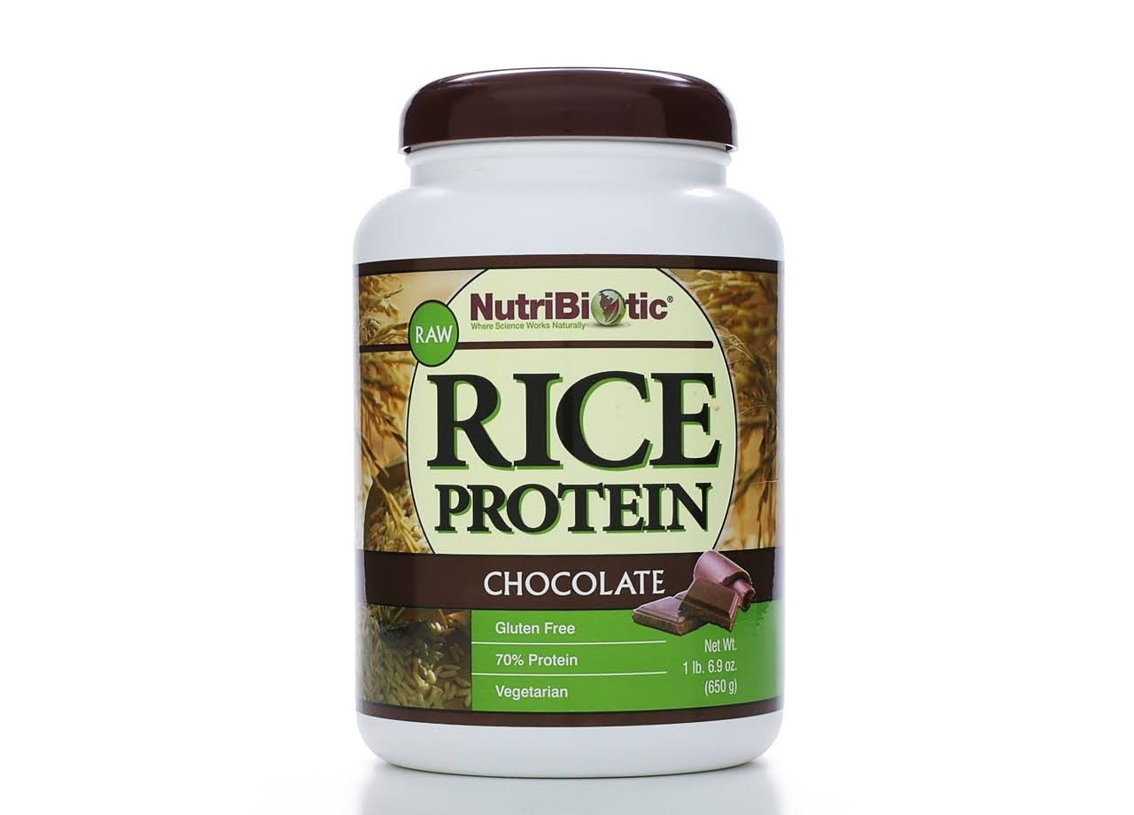 Nutribiotic Rice Protein Powder - Chocolate, 1lb