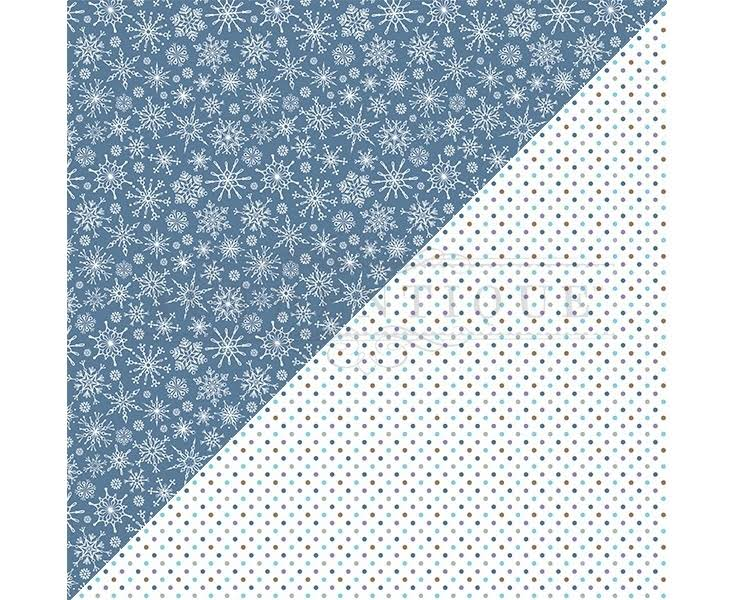Authentique Paper Frosted Double-Sided Cardstock 12 inchx12 inch-#1 Snowflakes