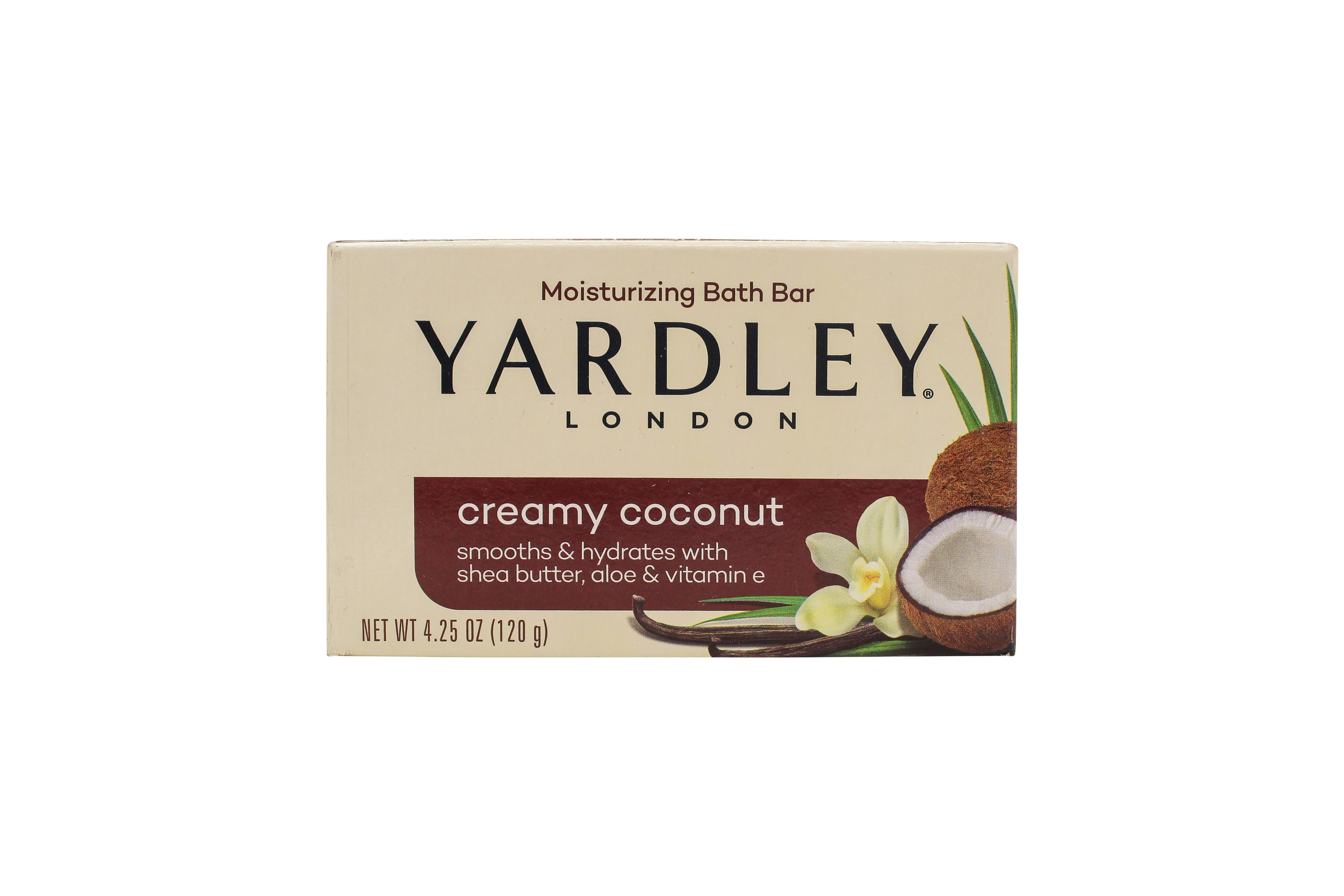 Yardley London Moisturizing Bath Bar - Creamy Coconut, 4.25oz