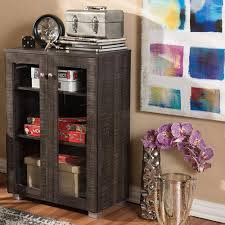 Baxton Shoe Storage Cabinet by Baxton Studio Winda Dark Brown Wood Wide Storage Cabinet 28862