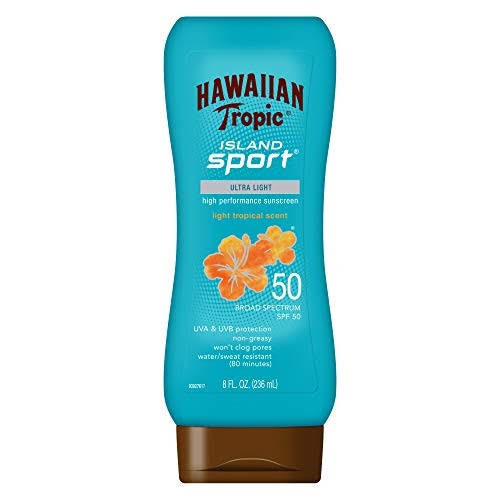 Hawaiian Tropic Lotion - Island Sport, SPF 50, 240ml