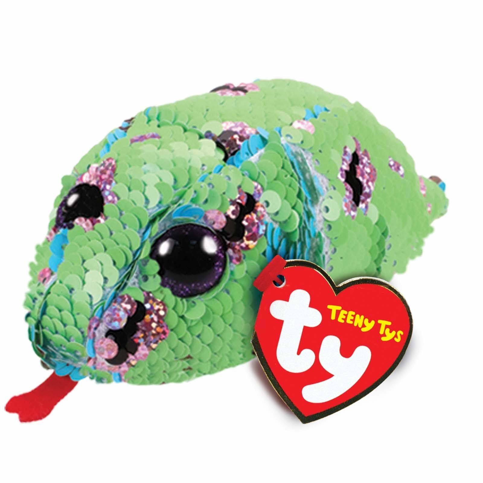 Ty Beanie Boos Teeny Tys Stackable Sequin Plush Monty The Snake