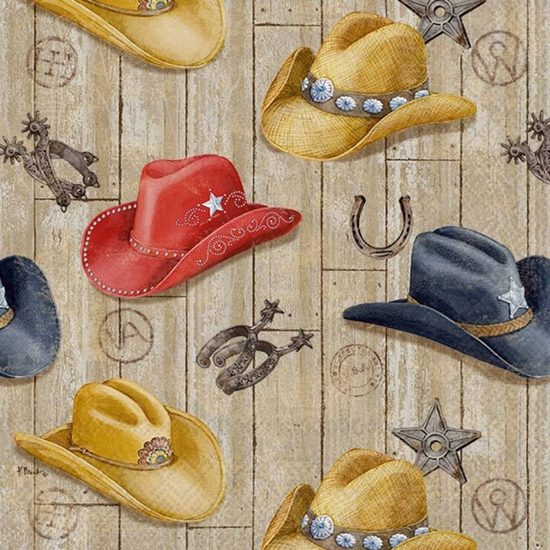 Ideal Home Range 20 Count Wild West Hats Paper Cocktail Napkins