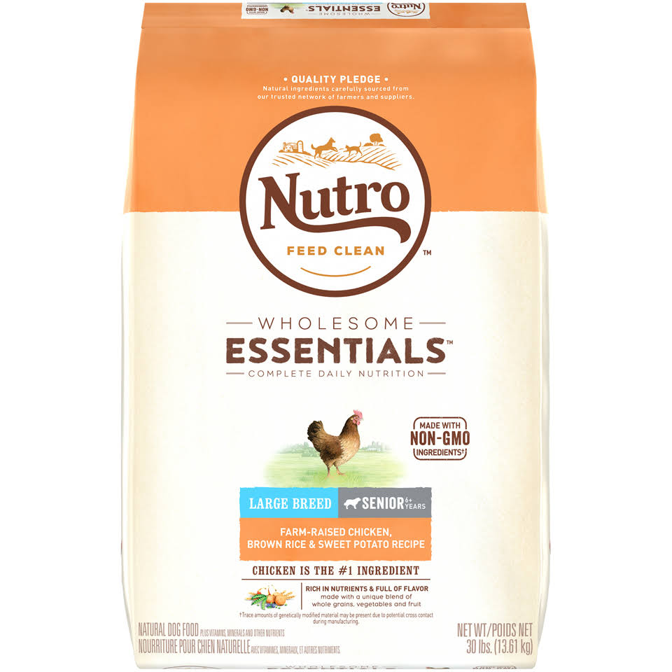 Nutro Large Breed Senior Dog Food - Chicken Whole Brown Rice and Oatmeal Recipe
