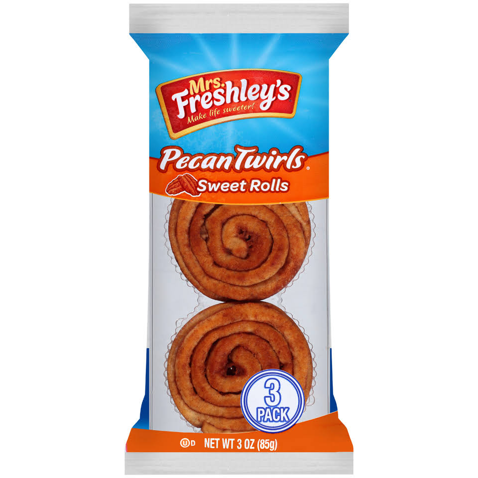 Mrs. Freshley's Pecan Twirls Sweet Rolls 3 Oz. Pack