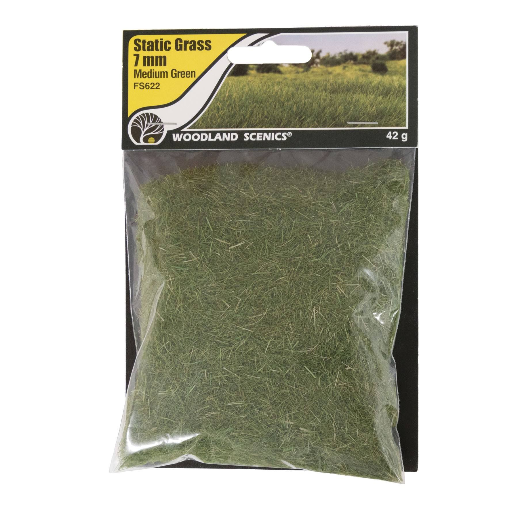 Woodland Scenics FS622 Static Grass Medium Green 7mm