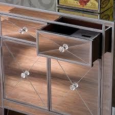 Free Standing Kitchen Cabinets Amazon by Amazon Com Mirage Mirrored Cabinet Kitchen U0026 Dining