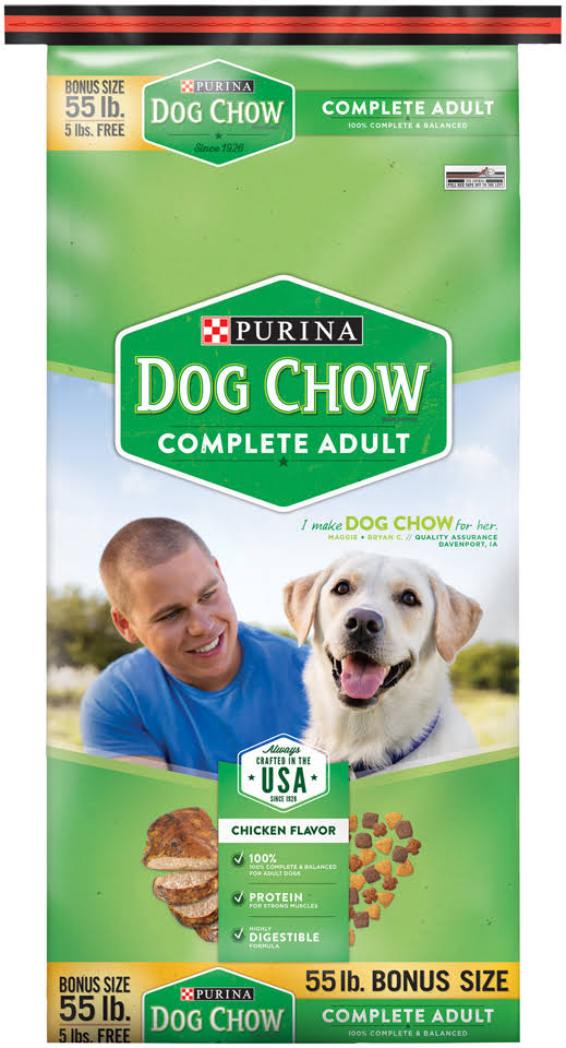 Purina Dog Chow Complete Dog Food - 55lb