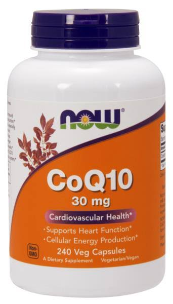 Now Foods Coq10 Cardiovascular Health - 30mg, 240 Caps